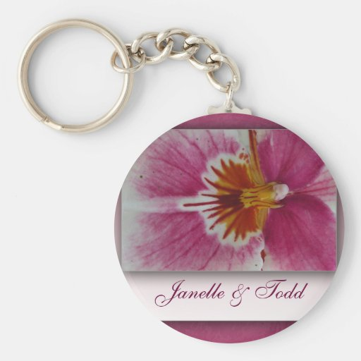 Customize your own floral key chain