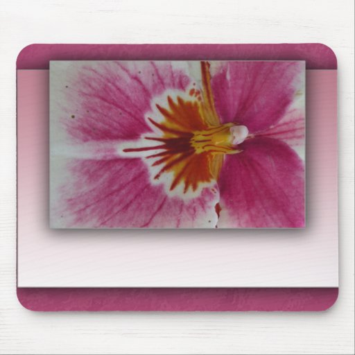 Customize your own floral mouse pad