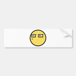 Customize Your Own: Glare Smiley Face Bumper Sticker