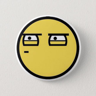 Customize Your Own: Glare Smiley Face Button