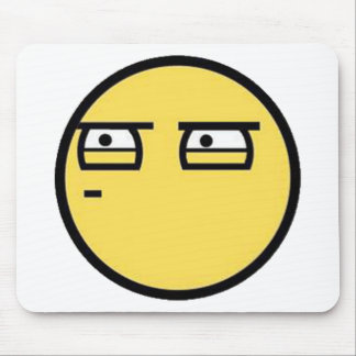 Customize Your Own: Glare Smiley Face Mouse Pad