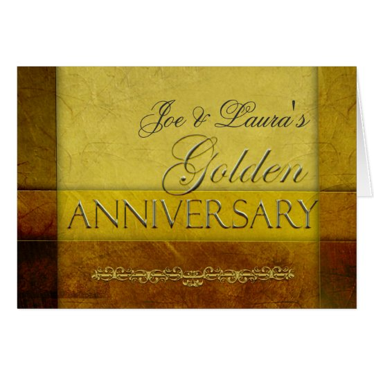 Customize your own Golden Anniversary Card