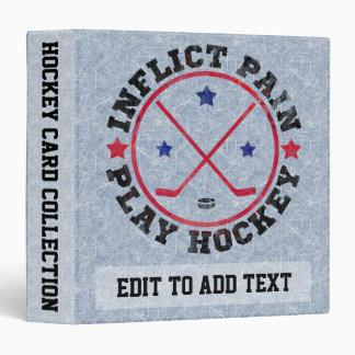Customize Your Own Hockey Ring Binder Card Album