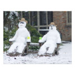 Customize Your Own Invitations Funnny Snowmen