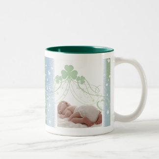 Customize your own Irish baby design Two-Tone Coffee Mug