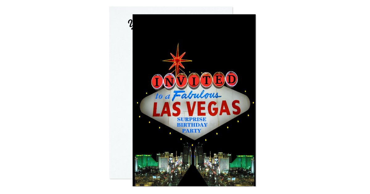 Customize your own las vegas sign invitations zazzle for Arts and crafts stores in las vegas