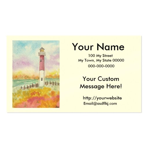 Customize your own lighthouse business cards zazzle for Customize your own business cards