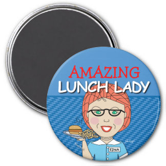 Customize your own Lunch Lady Magnet