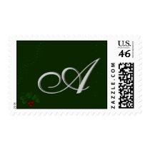 Customize your own monogram postage stamp