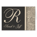 Customize your own monogram wedding greeting cards