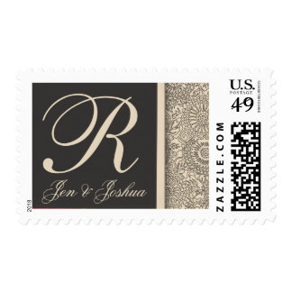 Customize your own monogram wedding postage