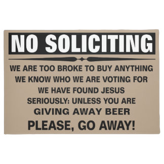 Customize Your Own No Soliciting Sign Doormat