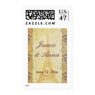 Customize your own Paris Save the Date Postage