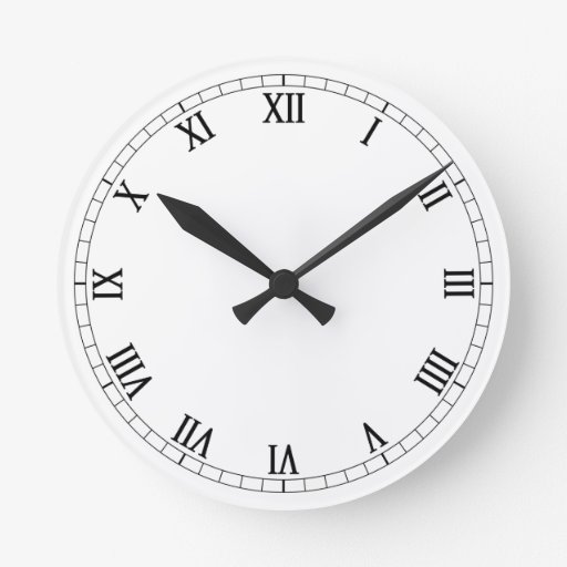 Customize Your Own Roman Numeral Wall Clock