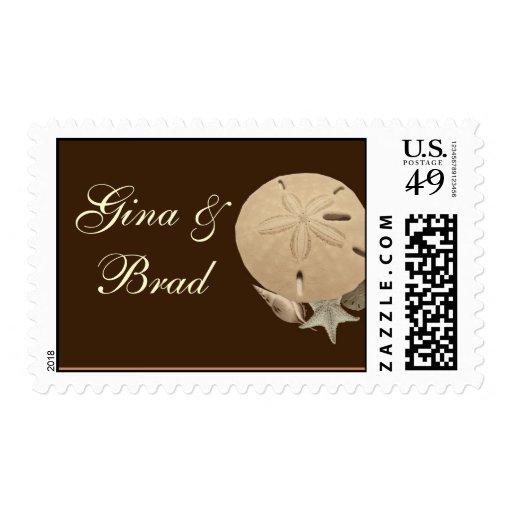 Customize your own Sand Dollar Wedding Postage