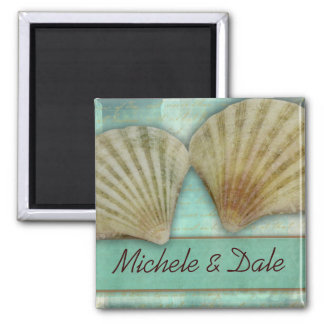 Customize your own seashell design 2 inch square magnet