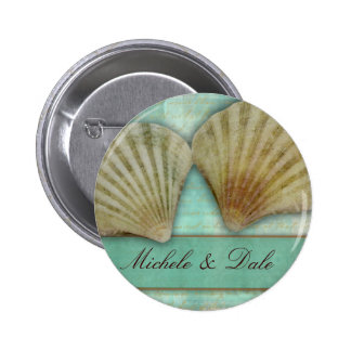 Customize your own seashell design pinback buttons