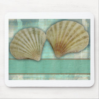 Customize your own seashell design mouse pad