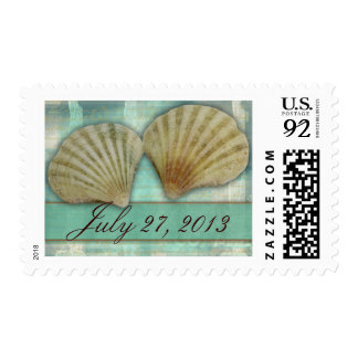 Customize your own seashell design postage stamps