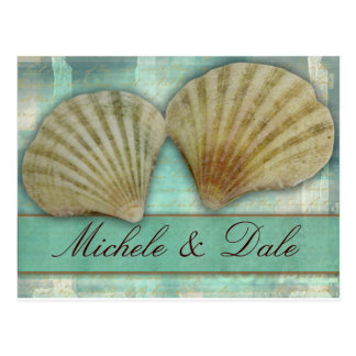 Customize your own seashell design postcards