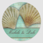 Customize your own seashell design round sticker