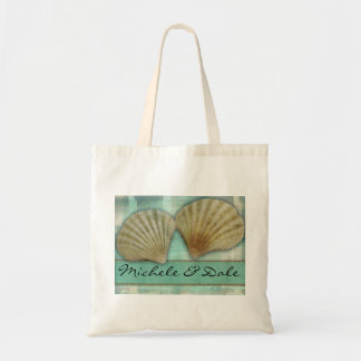 Customize your own seashell design tote bag