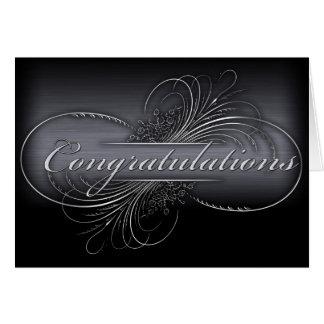 Customize your own silver graduation design card