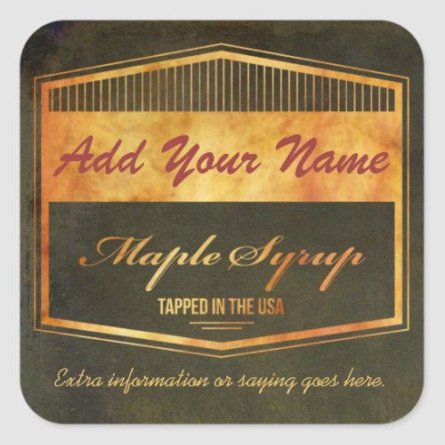 Customize Your Own Text Maple Syrup Label