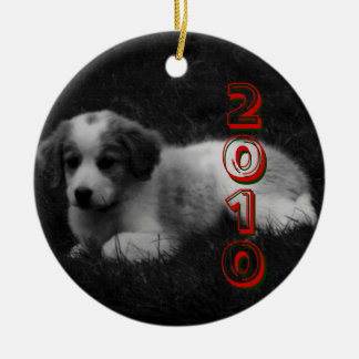 CUSTOMIZE your Puppy's First Christmas Ceramic Ornament