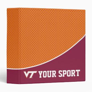 Customize Your Sport Virginia Tech 3 Ring Binder