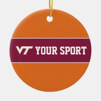 Customize Your Sport Virginia Tech Ceramic Ornament