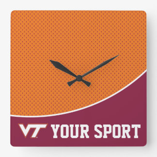 Customize Your Sport Virginia Tech Square Wall Clock