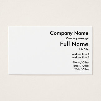 Customize Your Standard Business Card, 100 pack Business Card