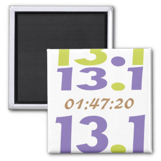 Customize Your Time for 13.1 half marathon 2 Inch Square Magnet