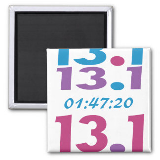 Customize Your Time for 13.1 half marathon Magnet
