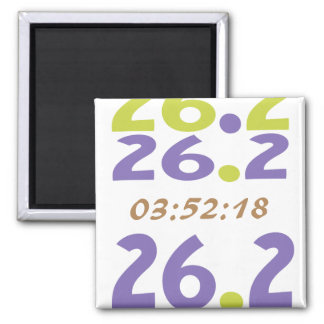 Customize Your Time for a 26.2 marathon 2 Inch Square Magnet