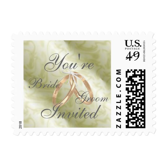 Customize You're Invited w/ Bride & Groom's Names Postage