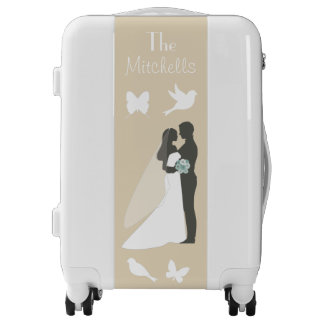 Customize yours Cream and White Luggage