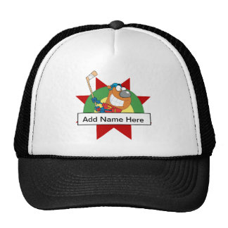 Customize Yourself Bear Hockey T-shirts and Gifts Trucker Hat