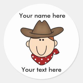 Customize Yourself Cowboy  Classic Round Sticker