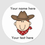 Customize Yourself Cowboy  Round Stickers