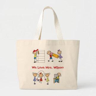 Customize Yourself Cute Teacher Tote Bag