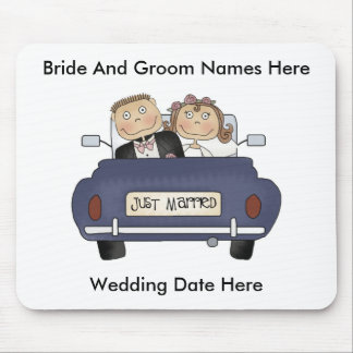 Customize Yourself Just Married Mousepad