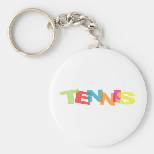 Customize yourself tennis gifts keychain