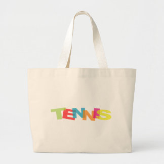 Customize yourself tennis gifts large tote bag