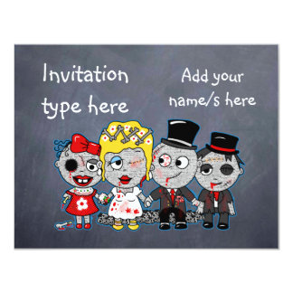 Customize Zombies wedding bride groom accessories Card