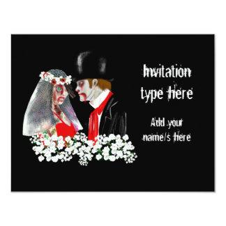 Customize Zombies wedding bride groom accessories Card