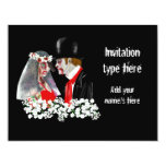 "Customize Zombies wedding bride groom accessories 4.25"" X 5.5"" Invitation Card"