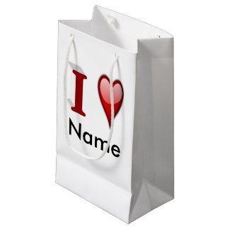 Customizeable 3D Valentine's Day Gift Bags