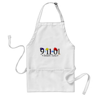 Customizeable 9-11-01 adult apron